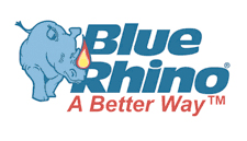 Blue Rhino brand work and logo