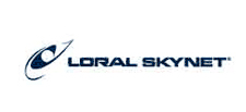 Loral Skynet brand work and logo