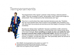 Brand training for the sales force on temperaments